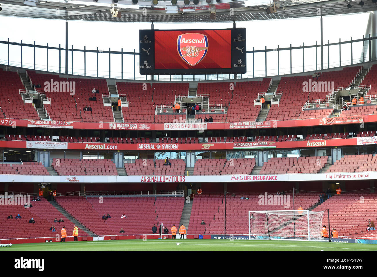 London, UK. 23rd Sept 2018. General view of Premier League match between Arsenal and Everton at Emirates Stadium on September 23rd 2018 in London, England. (Photo by Zed Jameson/phcimages.com) Credit: PHC Images/Alamy Live News Stock Photo