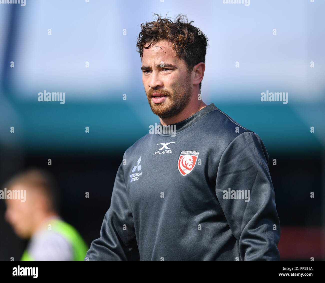 London, UK. 23rd Sept 2018. Danny Cipriani of Gloucester  during Gallagher Premiership match between Saracens and Gloucester Rugby at Allianz Park on Sunday, 23 September 2018. LONDON ENGLAND.  (Editorial use only, license required for commercial use. No use in betting, games or a single club/league/player publications.) Credit: Taka Wu/Alamy Live News Stock Photo