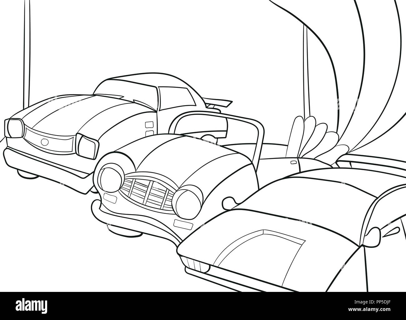 - Childrens Cartoon Coloring Book For Boys. Vector Illustration