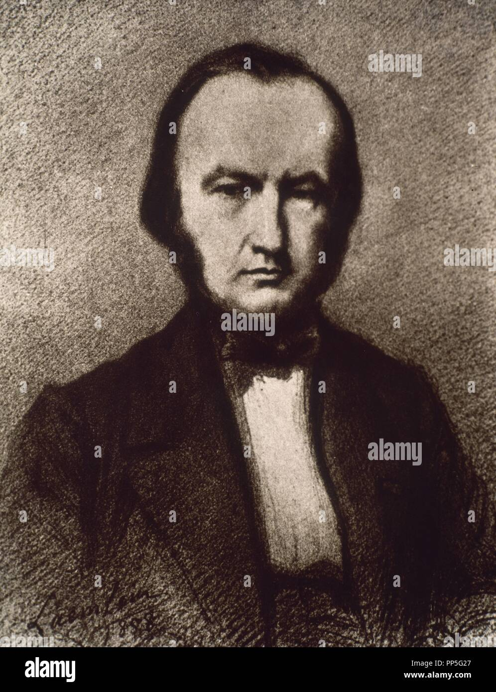 CLAUDE BERNARD (1813-1878) PHYSIOLOGIST WHO DISCOVERED THE CHEMICAL FUNCTIONS OF THE LIVER AND THE FUNCTIONING OF THE NERVOUS SYSTEM - 1889. - Stock Image