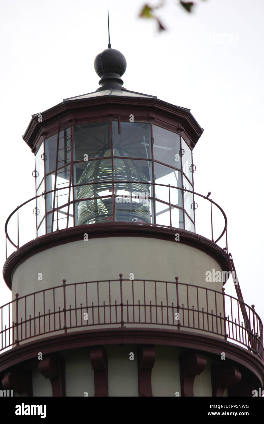 Grosse Point Lighthouse and light station is a standard icon of maritime culture on the Great Lakes on the National Register of Historic Places. Stock Photo