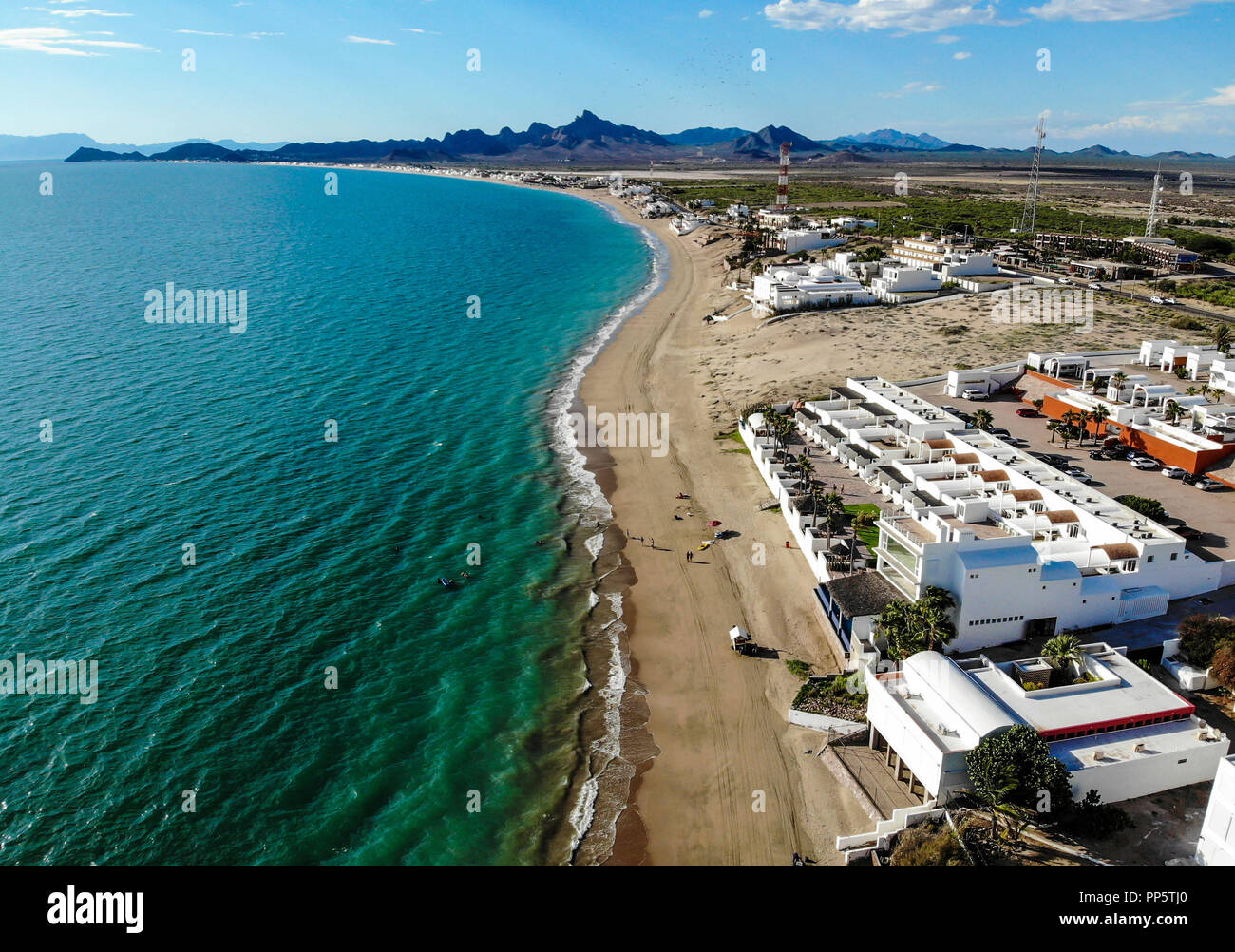 Aerial view of Kino Bay in Sonora, Mexico  Beach  Tourist