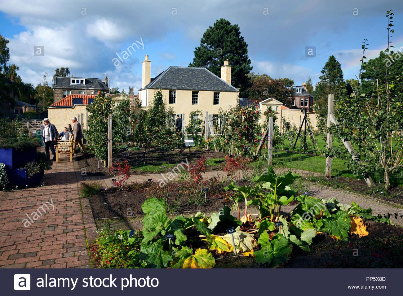 The Botanic Cottage at the Royal Botanic Garden in Edinburgh Scotland - Stock Image