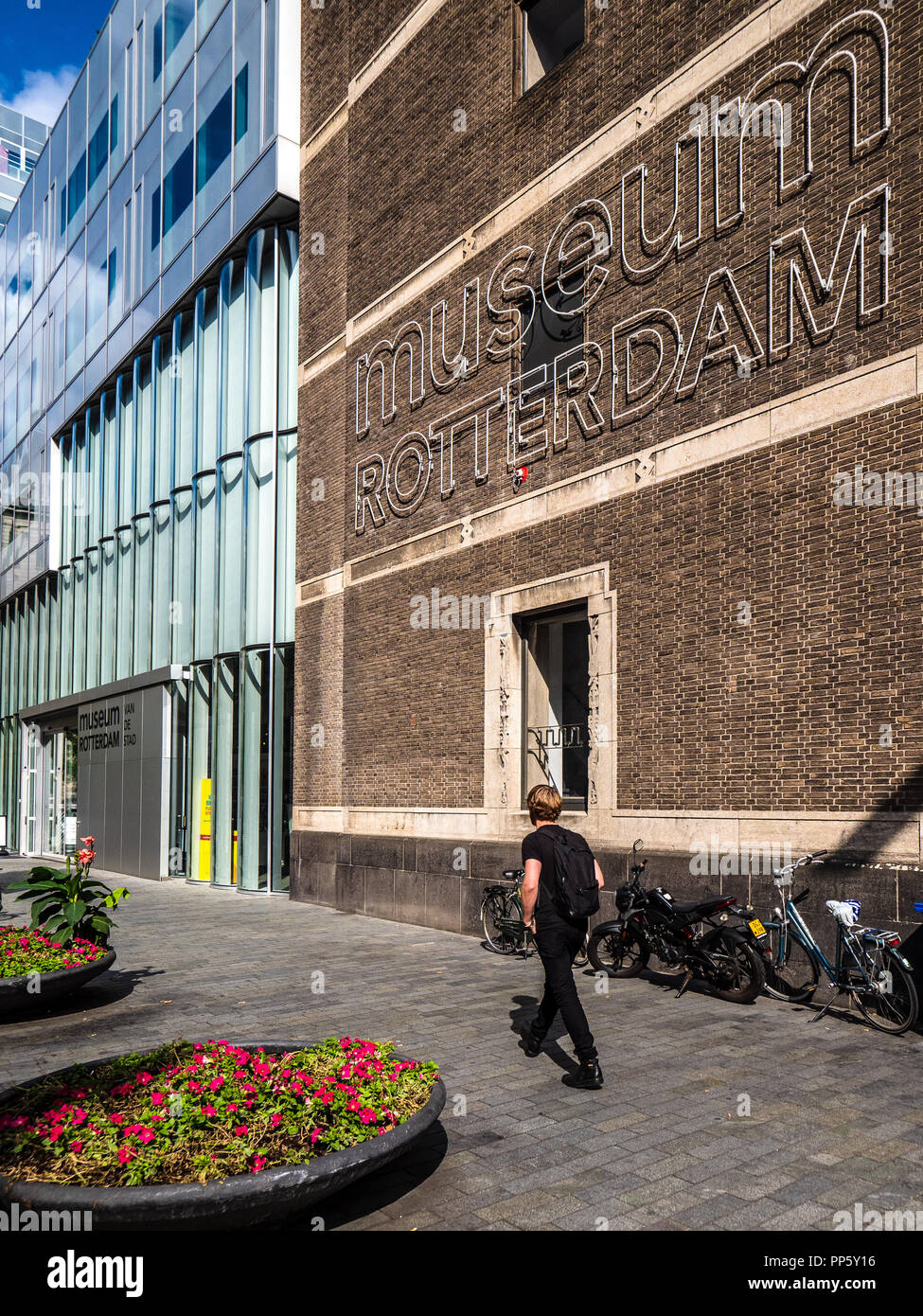 Museum Rotterdam in Timmerhuis in Central Rotterdam Architects OMA 2015 - Stock Image