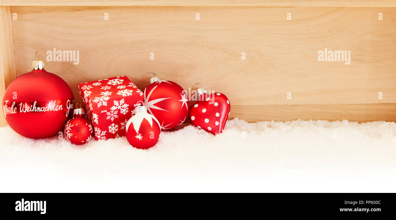 Frohe Weihnachten Text.Christmas Header With German Text Frohe Weihnachten Merry