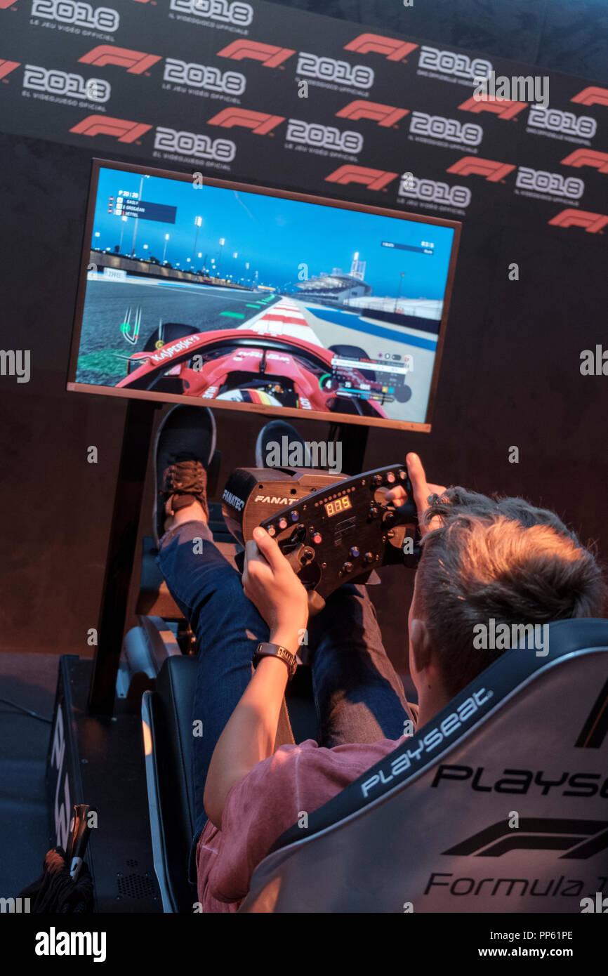 Racing Simulation Stock Photos & Racing Simulation Stock Images - Alamy