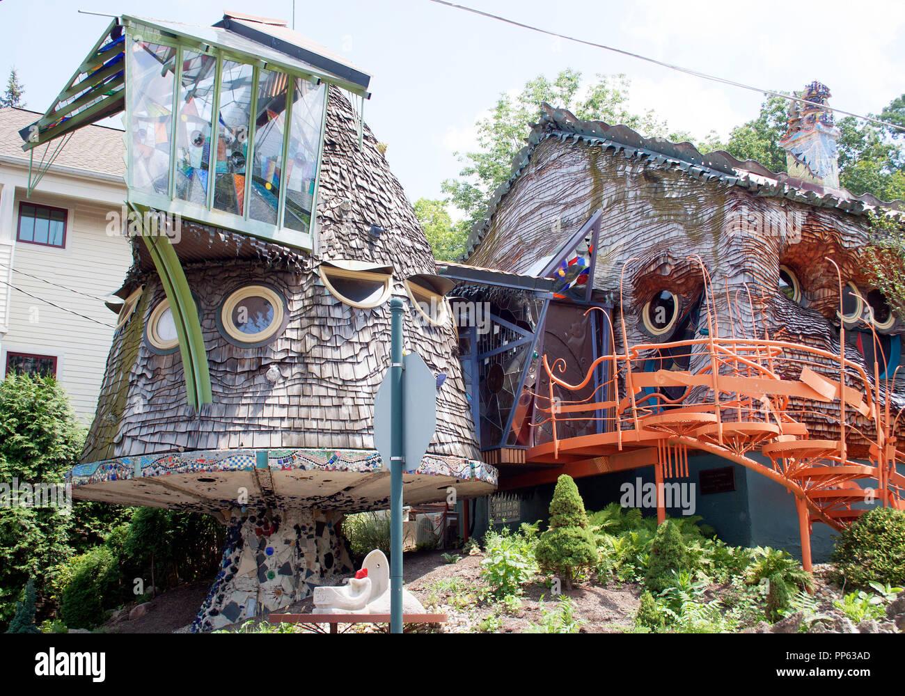 Mushroom House in Cincinnati Ohio Stock Photo
