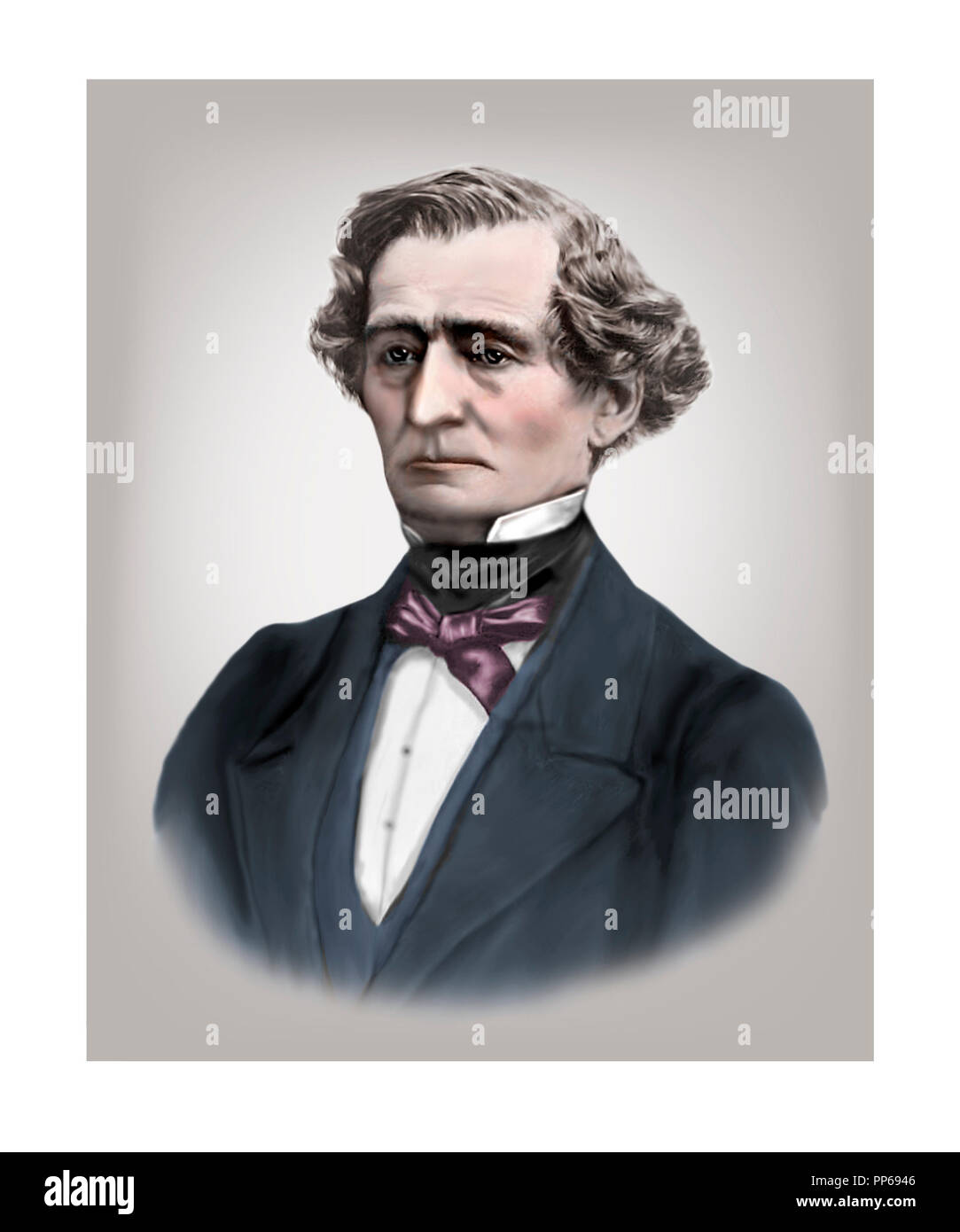 Hector Berlioz  1803 - 1869  French Composer - Stock Image