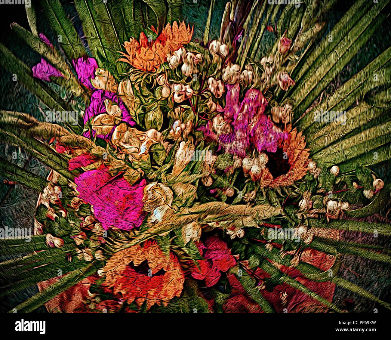 FINE ART: Flower Bouquet by Blumen-Fritz of Bad Tölz, Germany - Stock Image