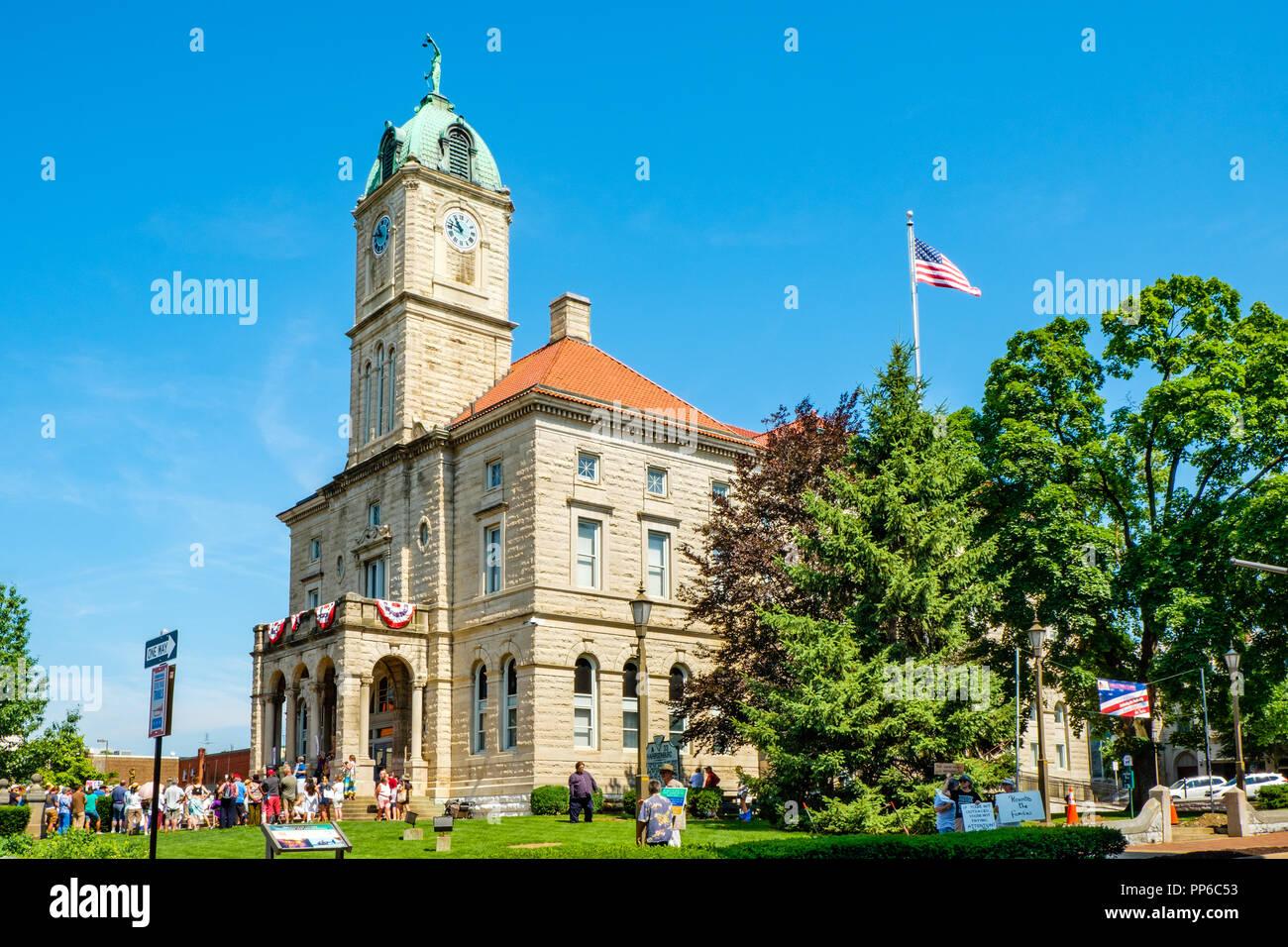 Rockingham County Courthouse, Court Square, Harrisonburg, Virginia - Stock Image