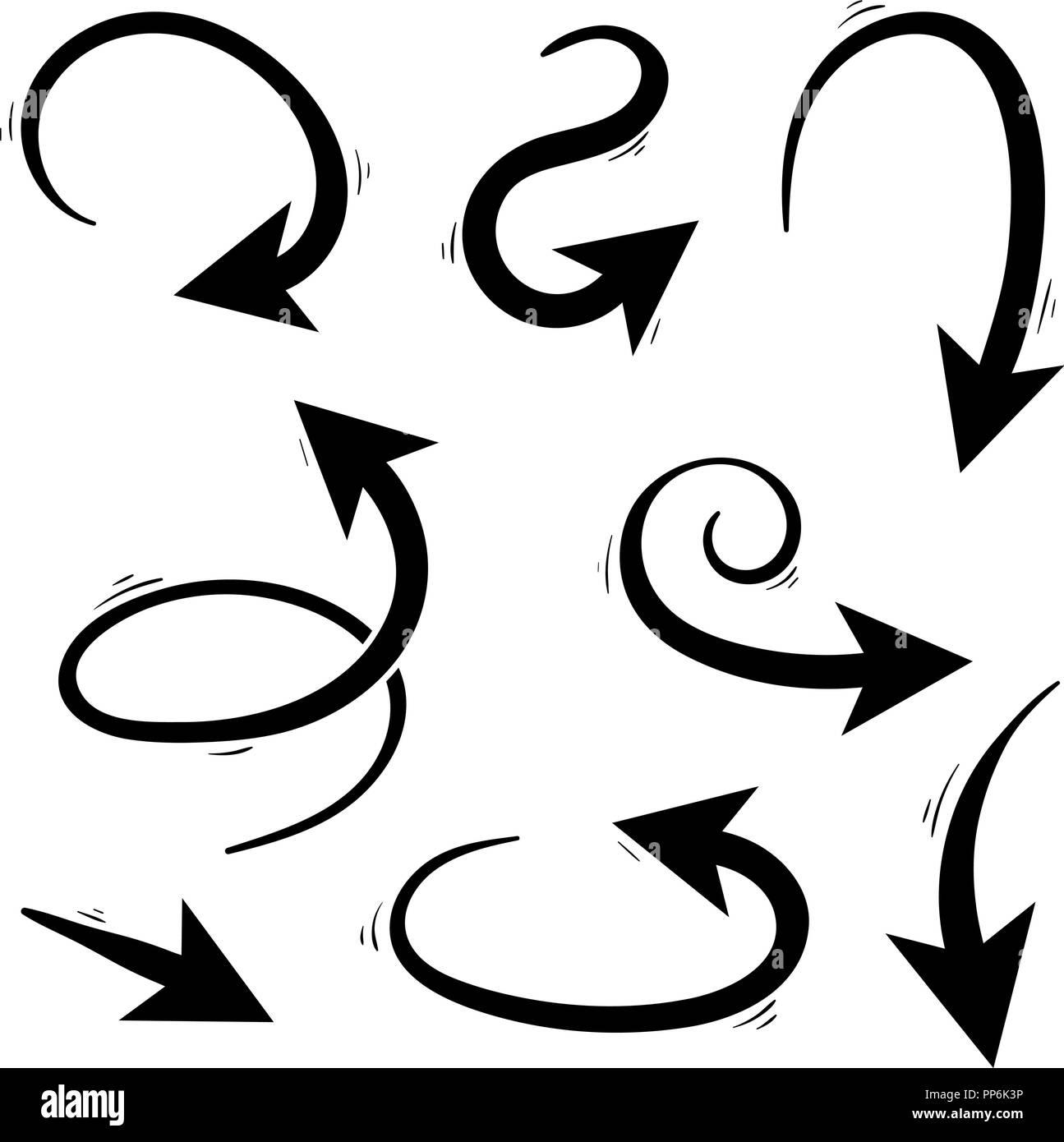 Arrows. Hand written set - Stock Image