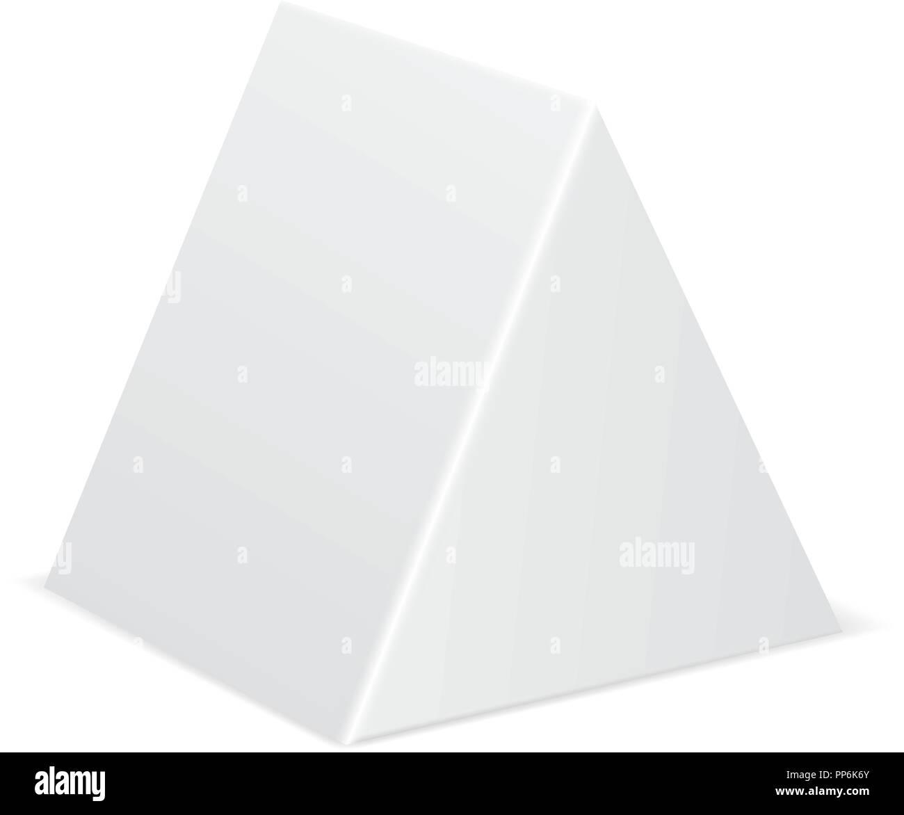 white geometric shape mockup 3d template stock vector art