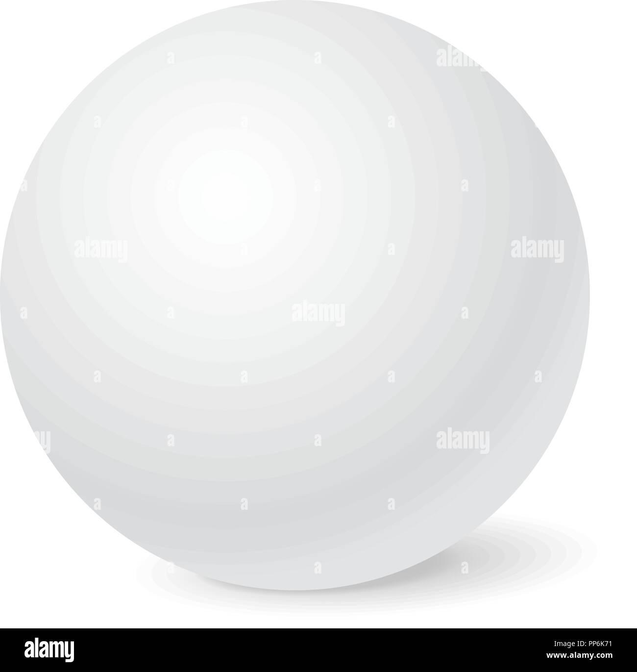 white sphere mockup 3d template stock vector art illustration
