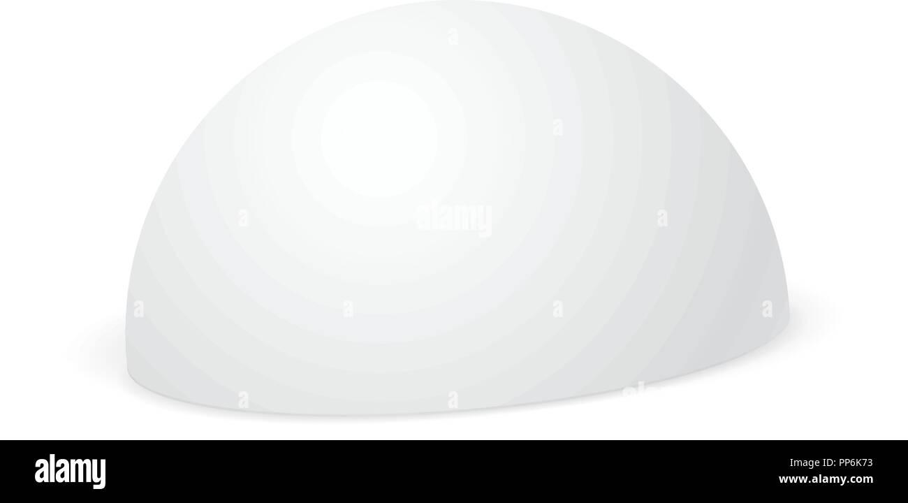 White hemisphere mockup. 3d template - Stock Image