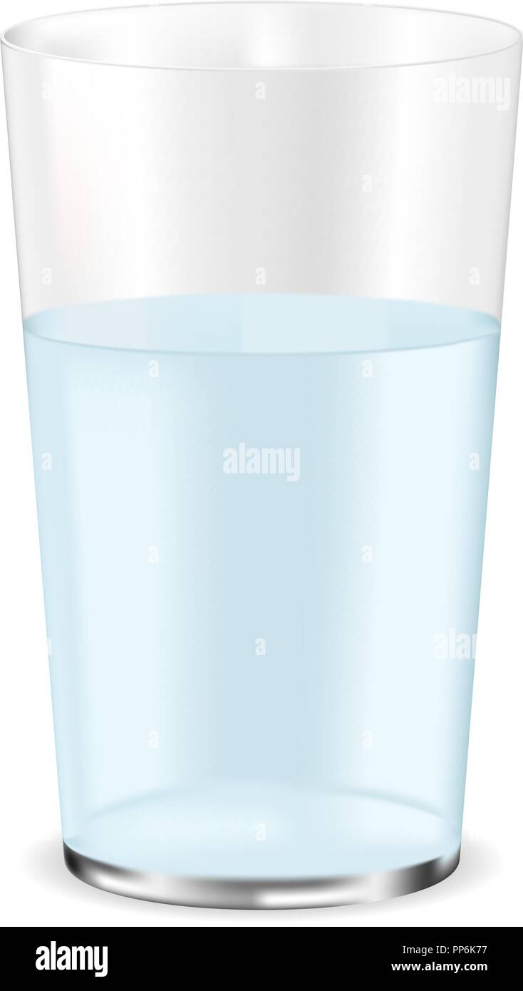 Glass of water - Stock Vector