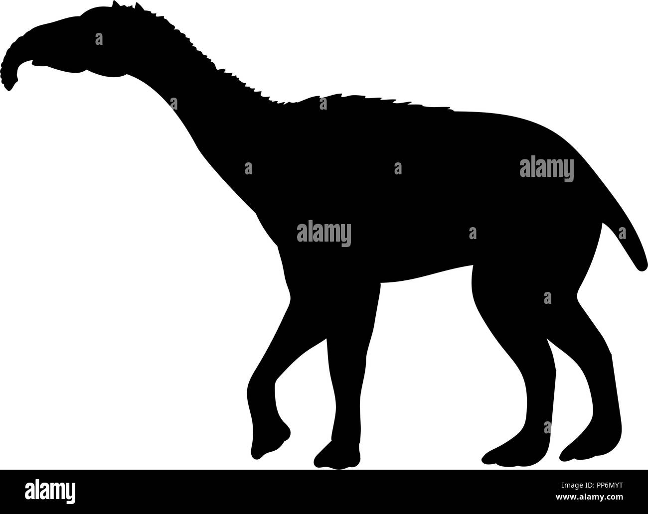 Litopterna silhouette extinct mammalian animal - Stock Image
