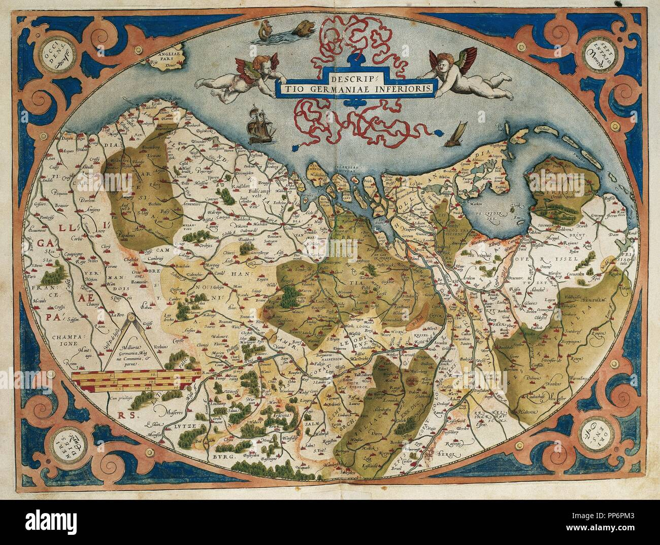 Current Map Of Germany.Map Of Germany And Current Netherlands Theatrum Orbis Terrarum By
