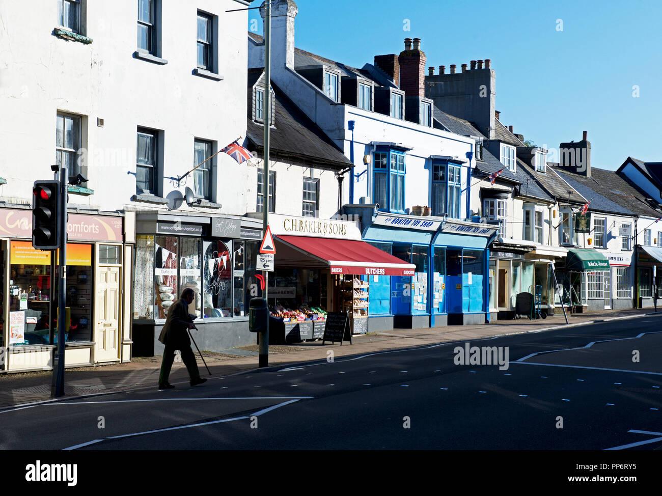 High Street, Honiton, Devon, England UK Stock Photo
