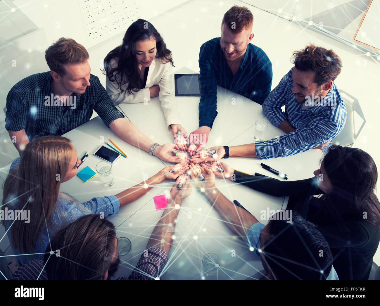 Teamwork And Brainstorming Concept With Businessmen That