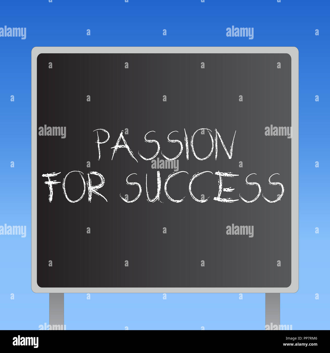 Handwriting text Passion For Success. Concept meaning Enthusiasm Zeal Drive Motivation Spirit Ethics. - Stock Image