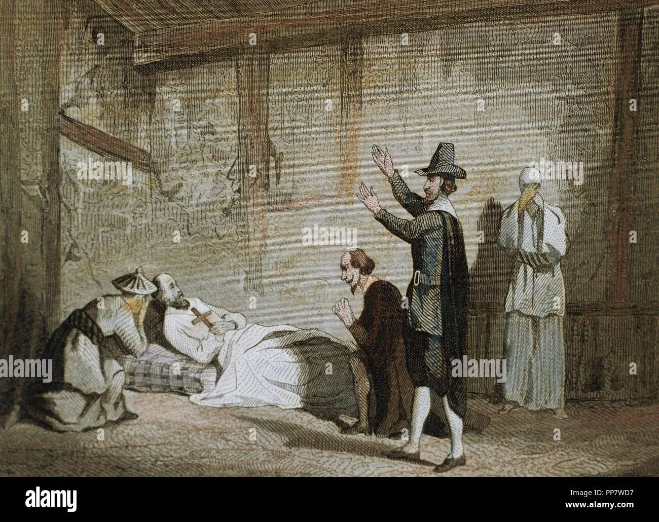 Saint Francis Xavier (1506-1552). Spanish missionary. Death of ...
