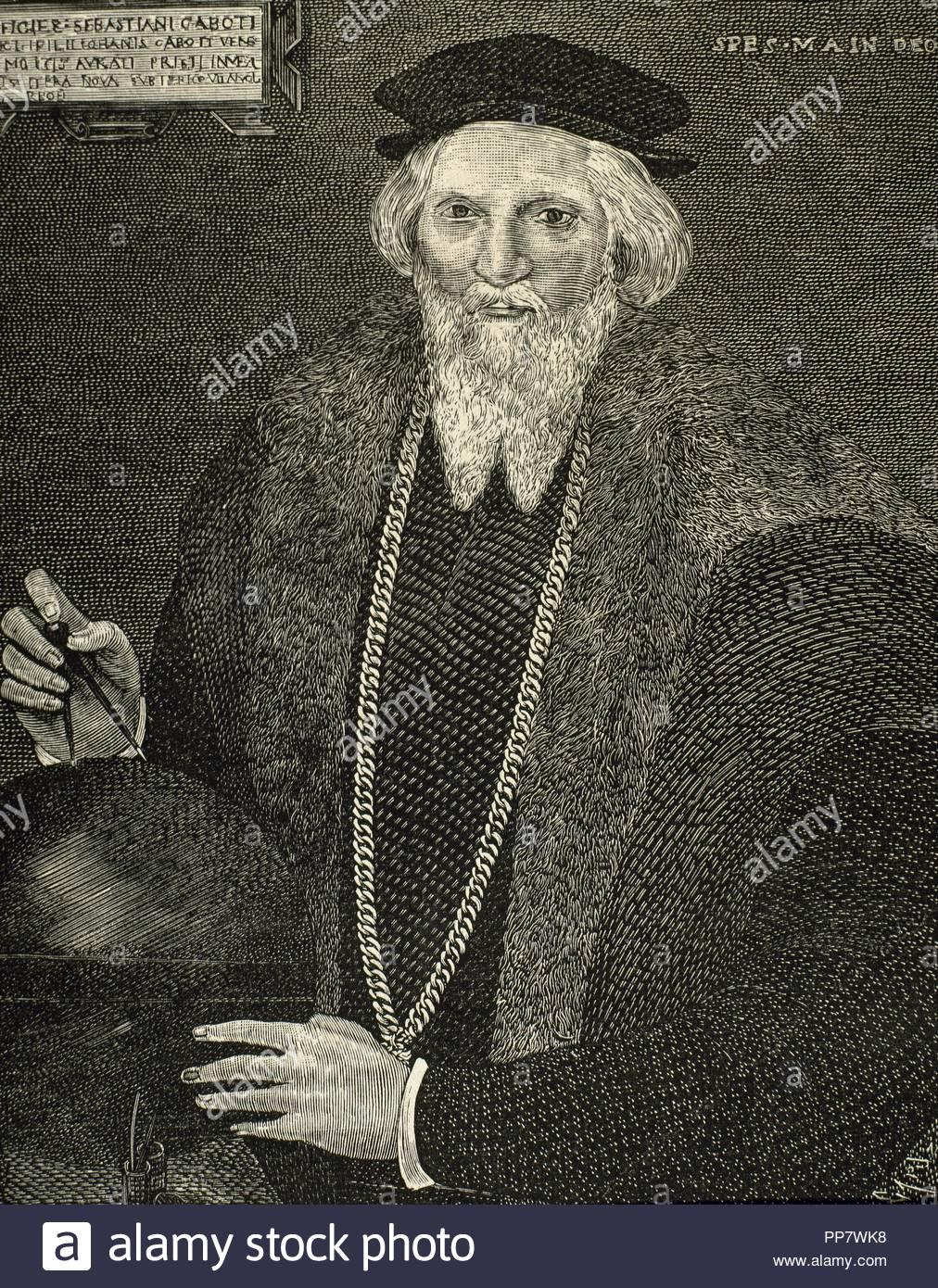 1557). Italian explorer. Portrait. Engraving by Capuz.