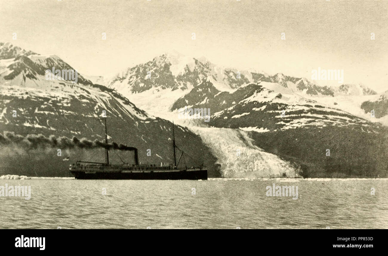 The George W Elder near Wellesley Glacier, circa 1900 - Stock Image