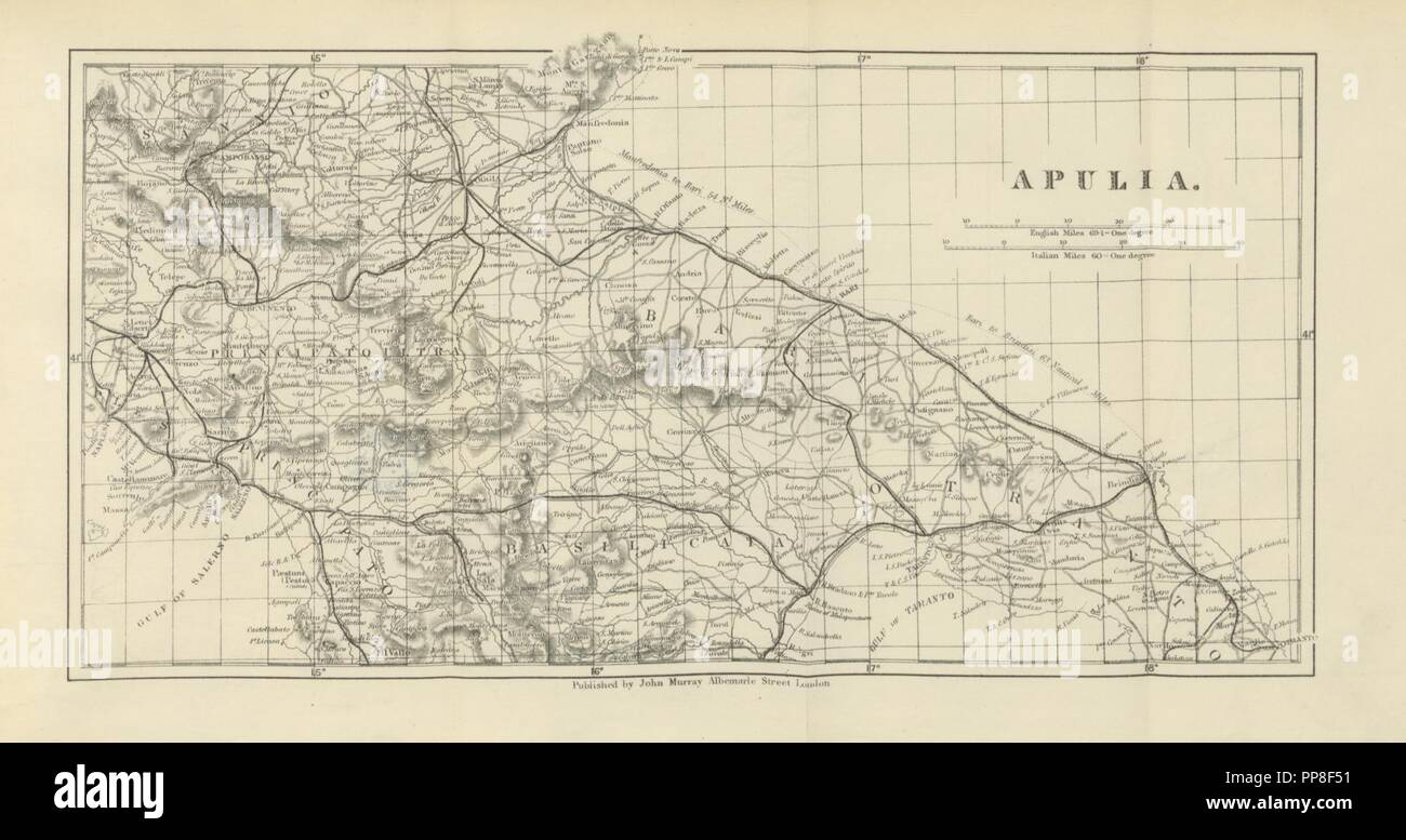 Tarentum Italy Map.Image From Page 389 Of The Land Of Manfred Prince Of Tarentum And
