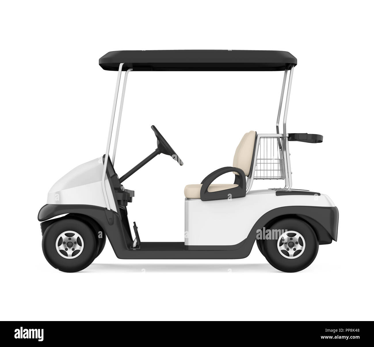 Golf Cart Isolated - Stock Image