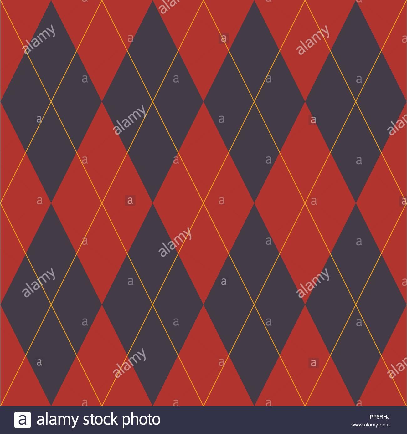 Lozenge - Geometric design for fabric - Stock Image