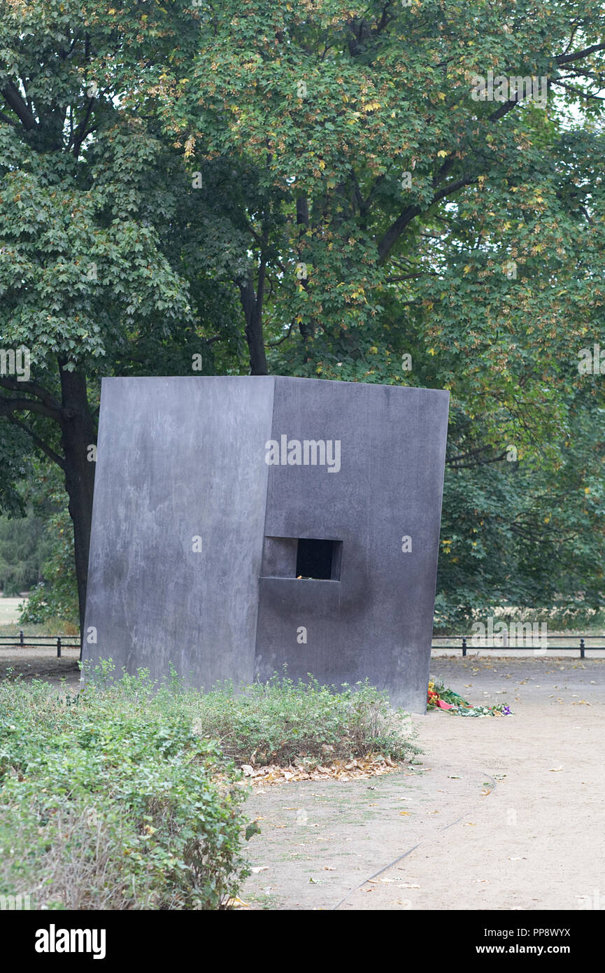 The Memorial to Homosexuals persecuted under Nazism Stock Photo
