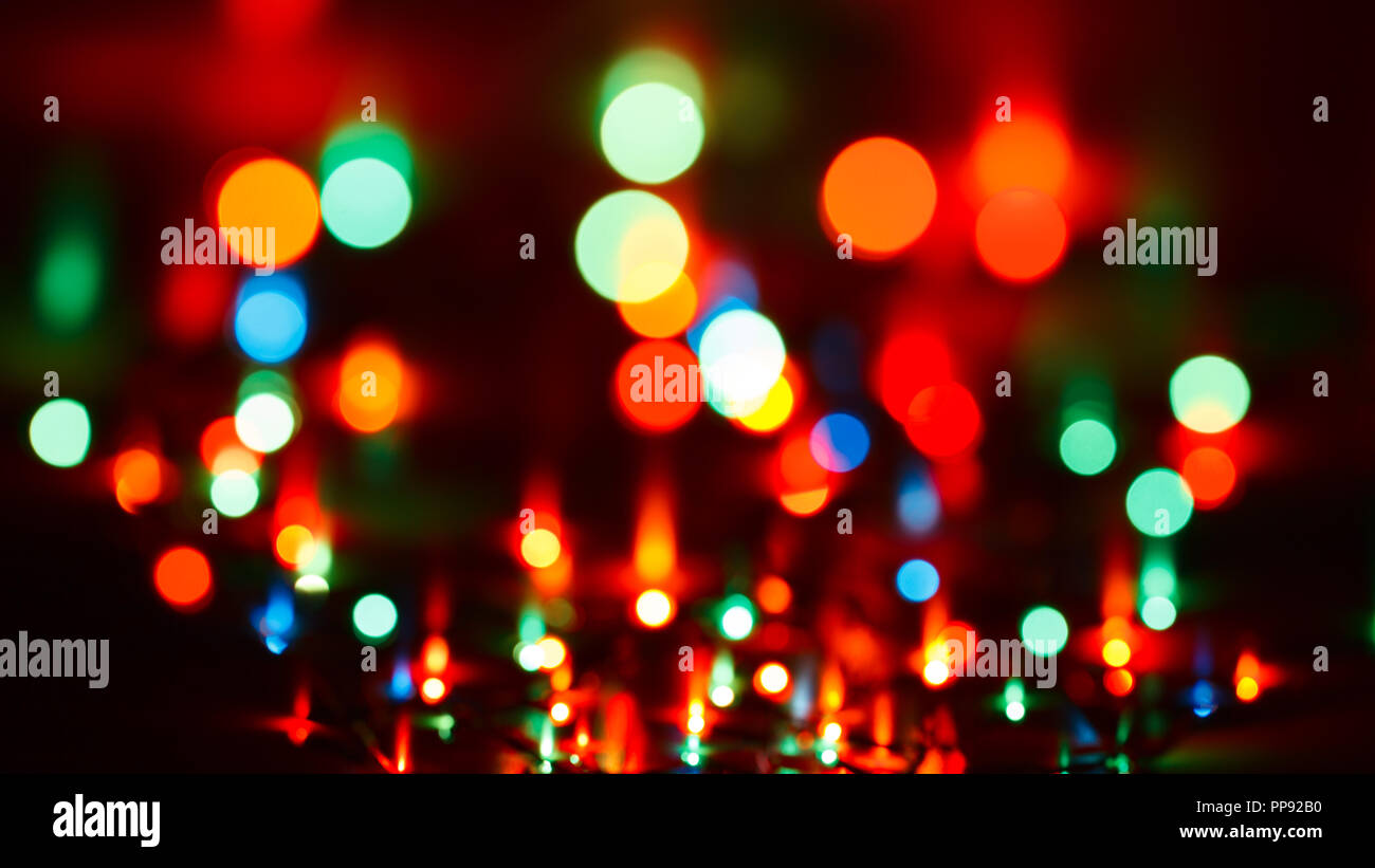 blurred christmas lights abstract background - Blurred Christmas Lights