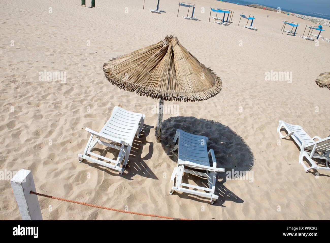 Portugal beach, Cova do Vapor. - Stock Image