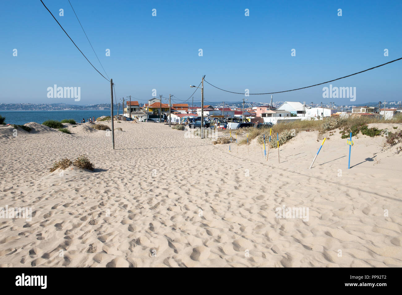Portugal beach, Cova do Vapor. People - Stock Image