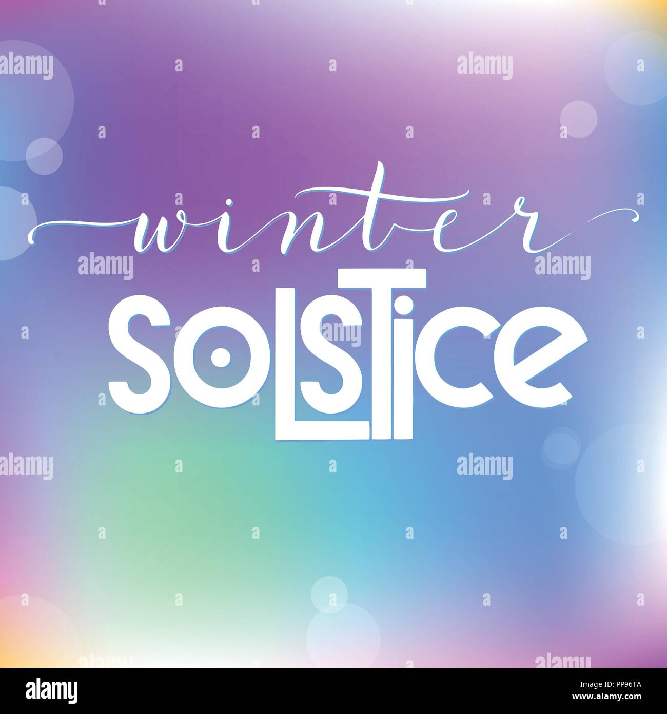 Winter Solstice Stock Vector Images Alamy