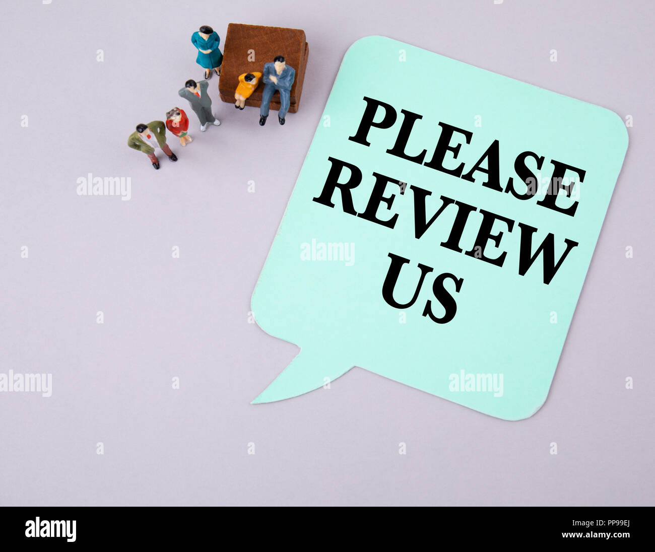 Please Review Us. Social media and business - Stock Image
