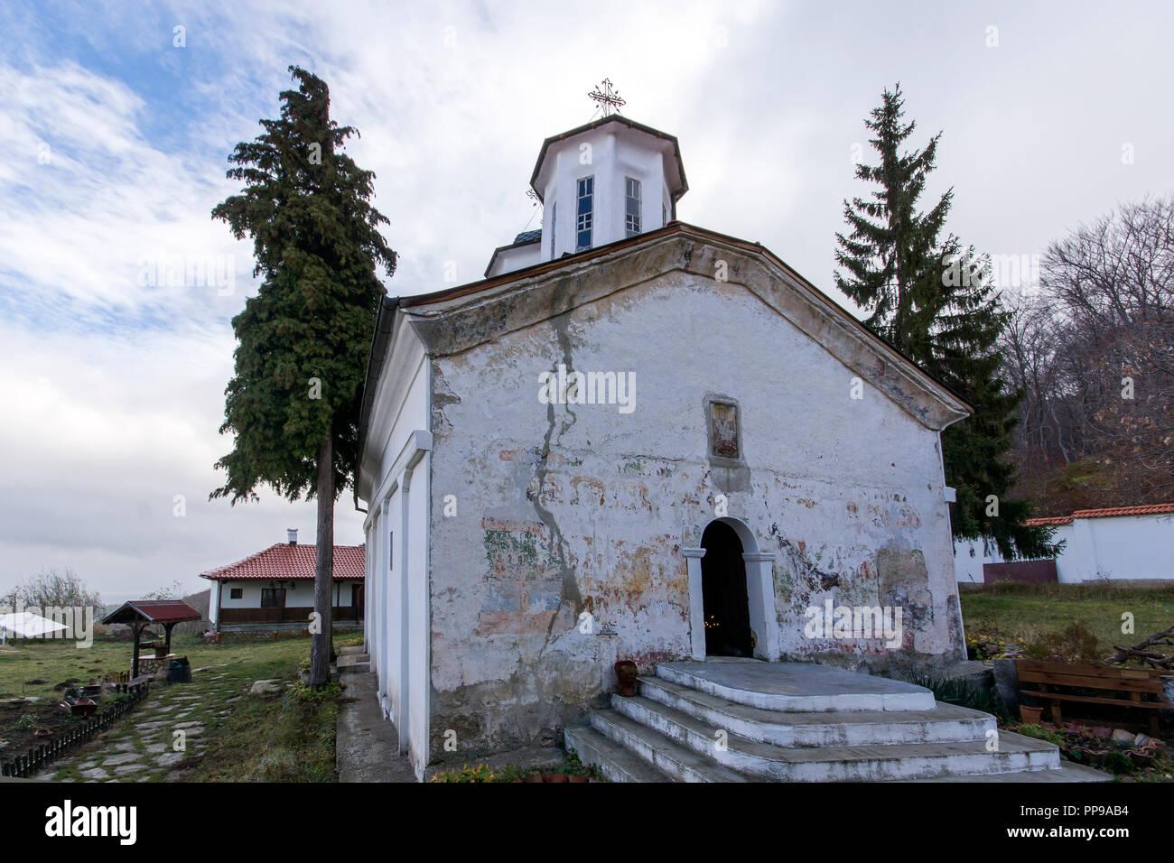 Medieval Lozen Monastery of Holy Savior (Sveti Spas), Sofia City region, Bulgaria - Stock Image