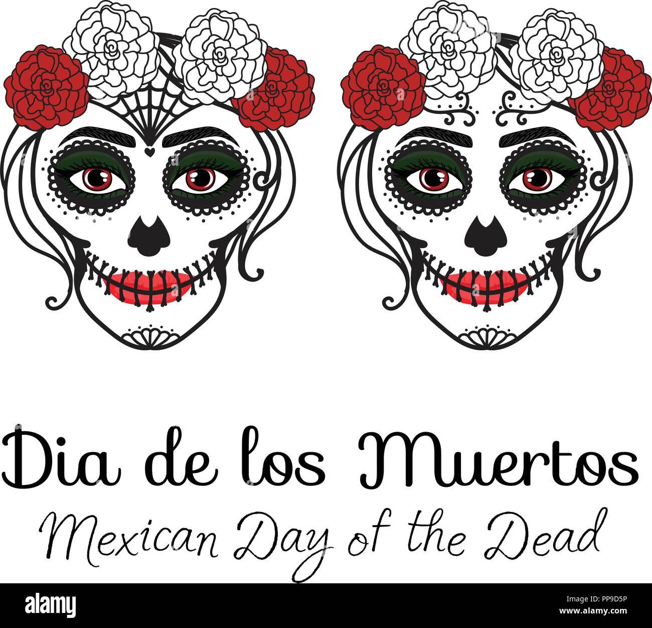 Catrina Woman With Make Up Of Sugar Skull Dia De Los Muertos