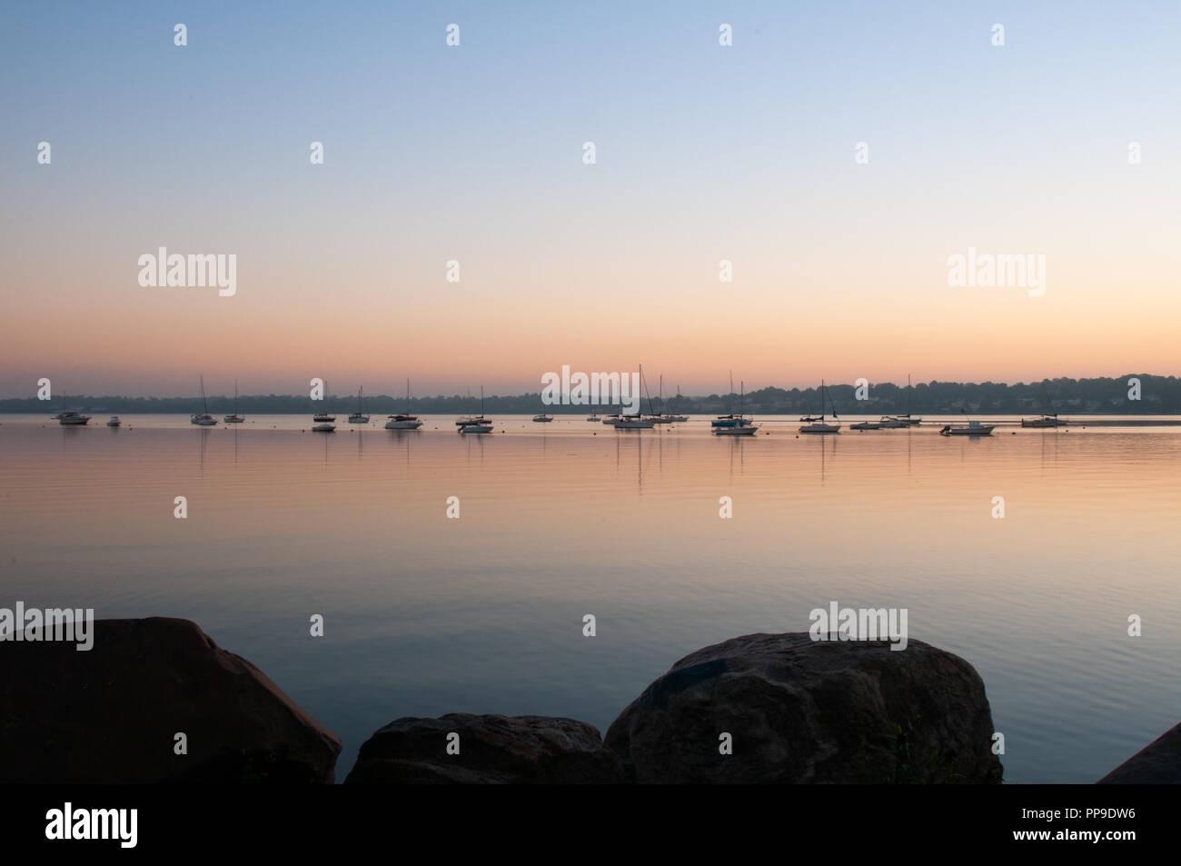 Sunrise on the Sound - Stock Image