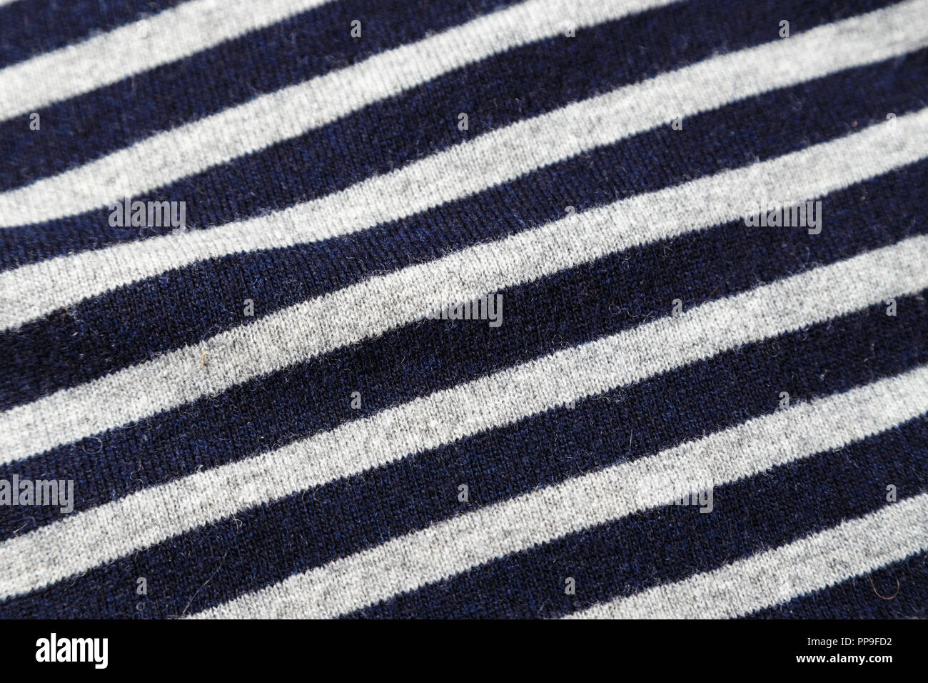 black and white nautical striped vest. background texture - Stock Image