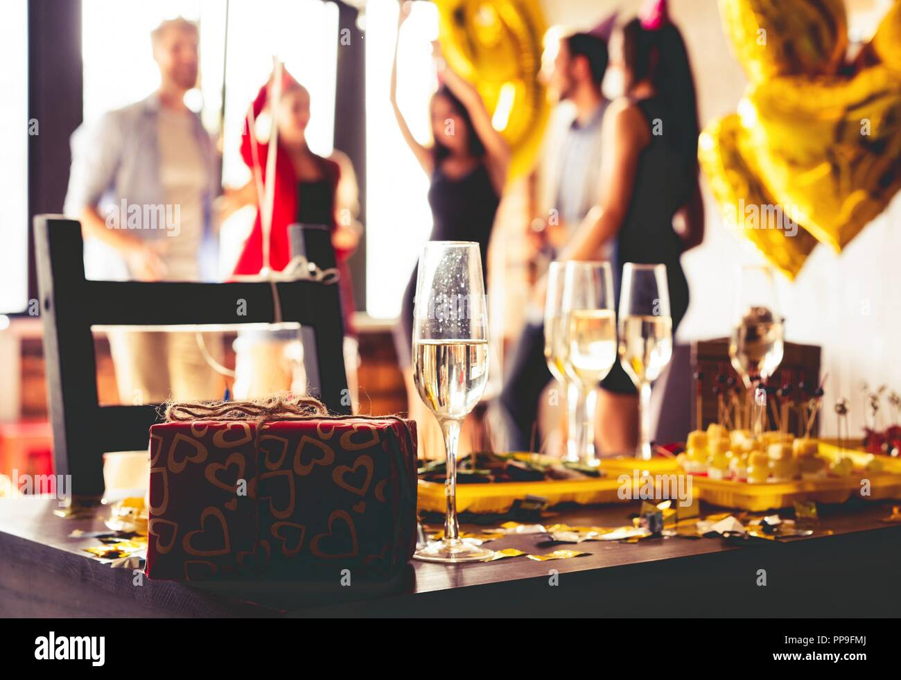 Buffet Dinner Dining Food Celebration Party Concept. Stock Photo