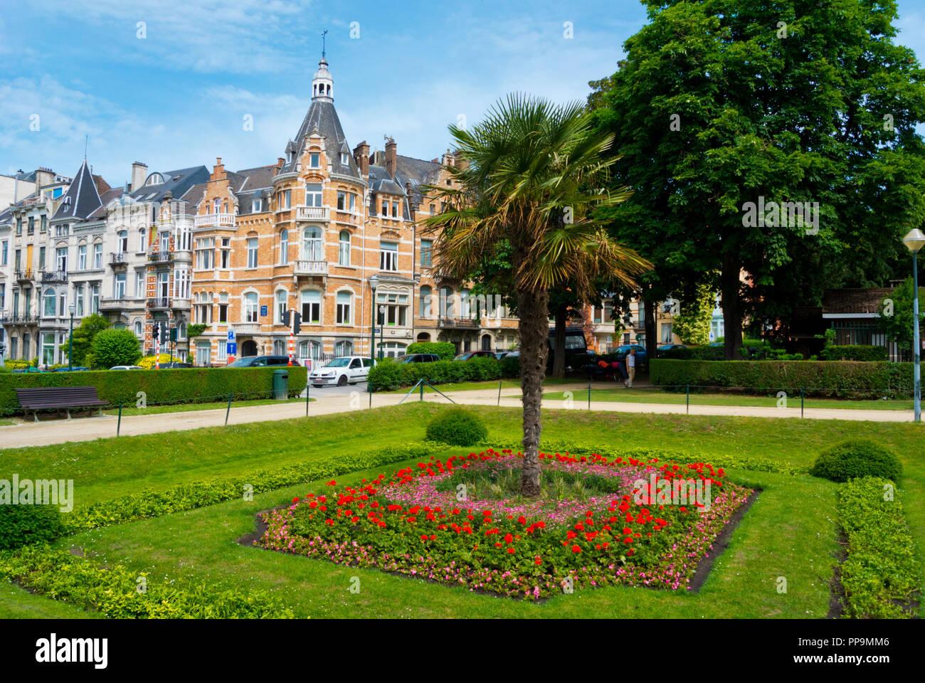 Ambiorix Square, Quartier des Squares, Brussels, Belgium - Stock Image