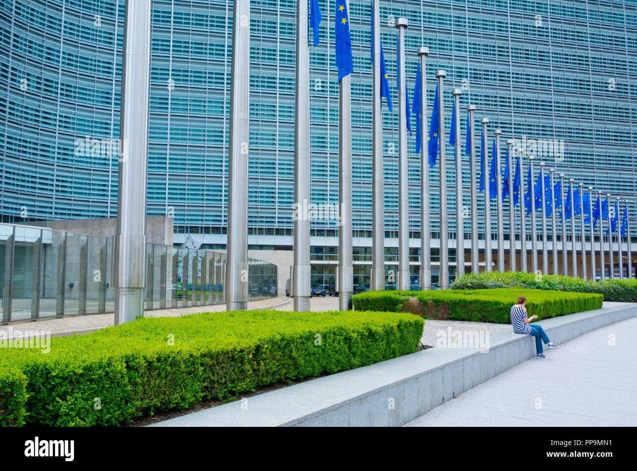 Berlaymont, European Commission headquarters, European Quarter, Brussels, Belgium - Stock Image
