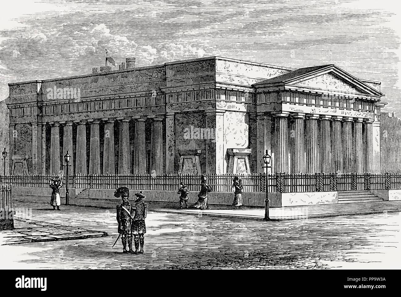 Royal Institution or Royal Scottish Academy, Edinburgh, Scotland, 19th century - Stock Image
