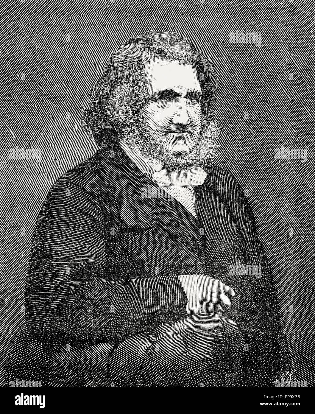 Sir James Young Simpson, 1st Baronet, 1811 – 1870, a Scottish obstetrician and physician - Stock Image