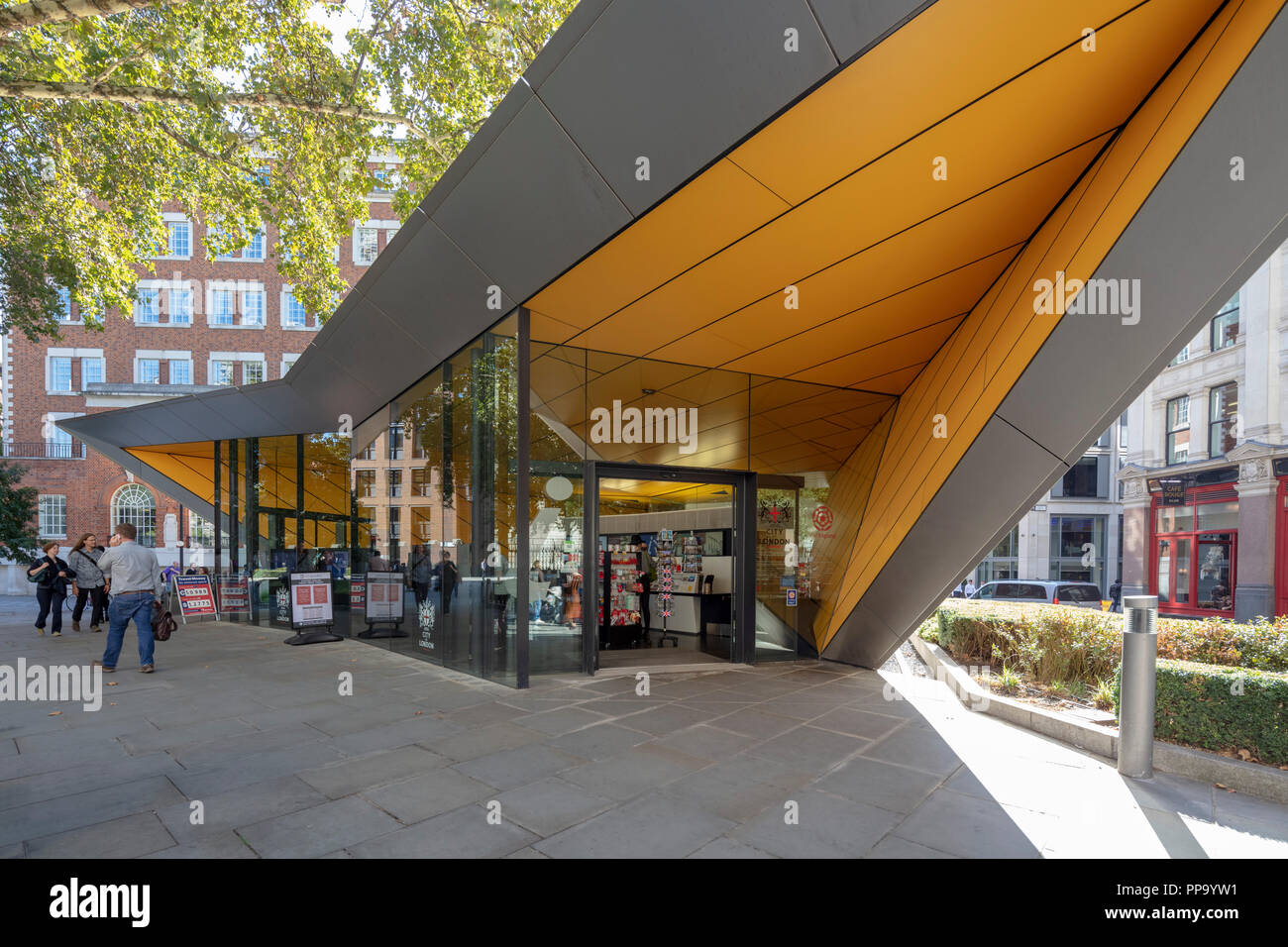 The City Information Centre, the only officially recognised Tourist Information Centre in central London, England, UK - Stock Image