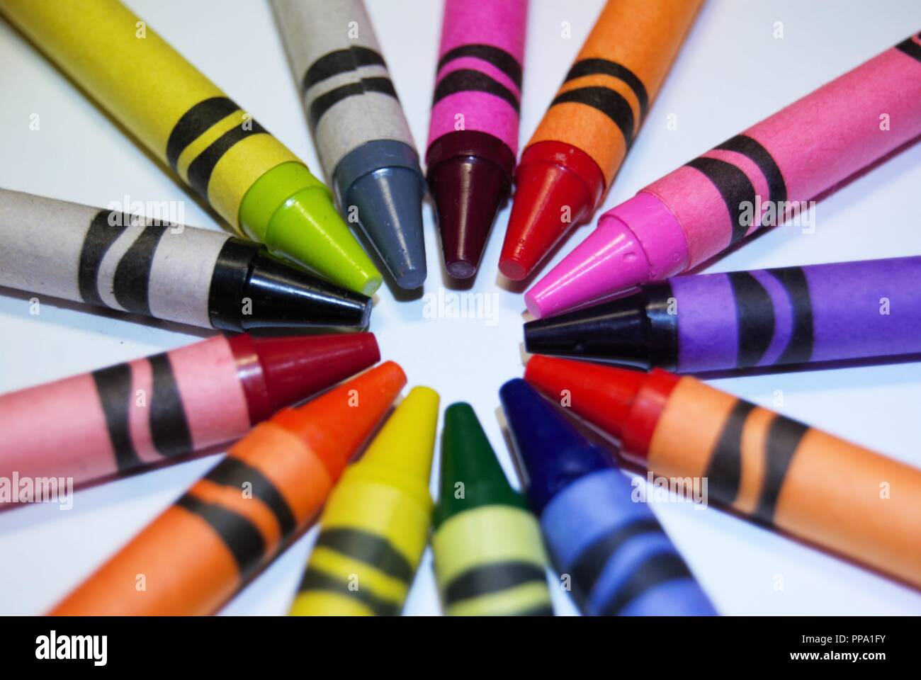 Color Palette Coloring Crayons Abstract Stock Photos & Color Palette ...