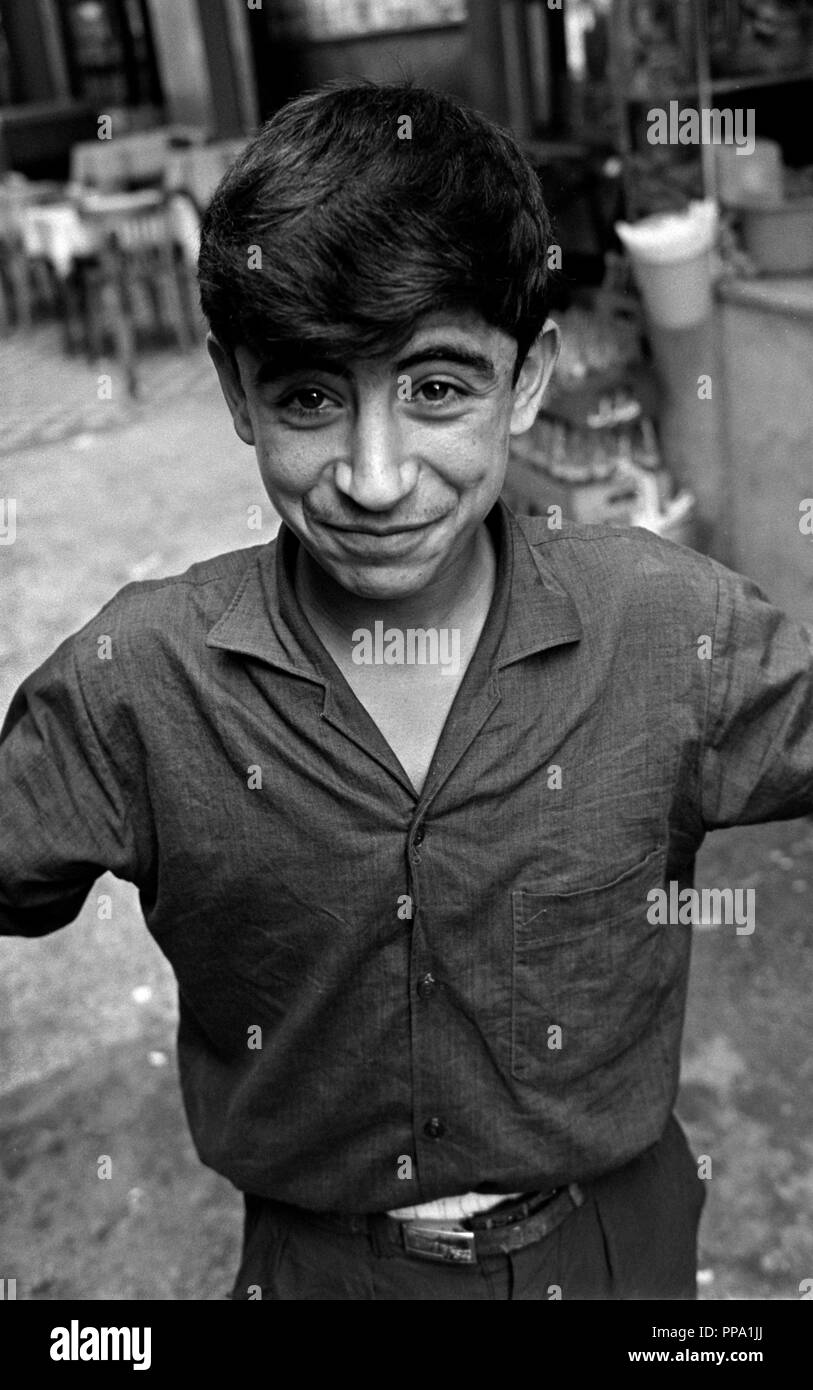 A young boy smiling on a street in East Jerusalem in 1965 - Stock Image