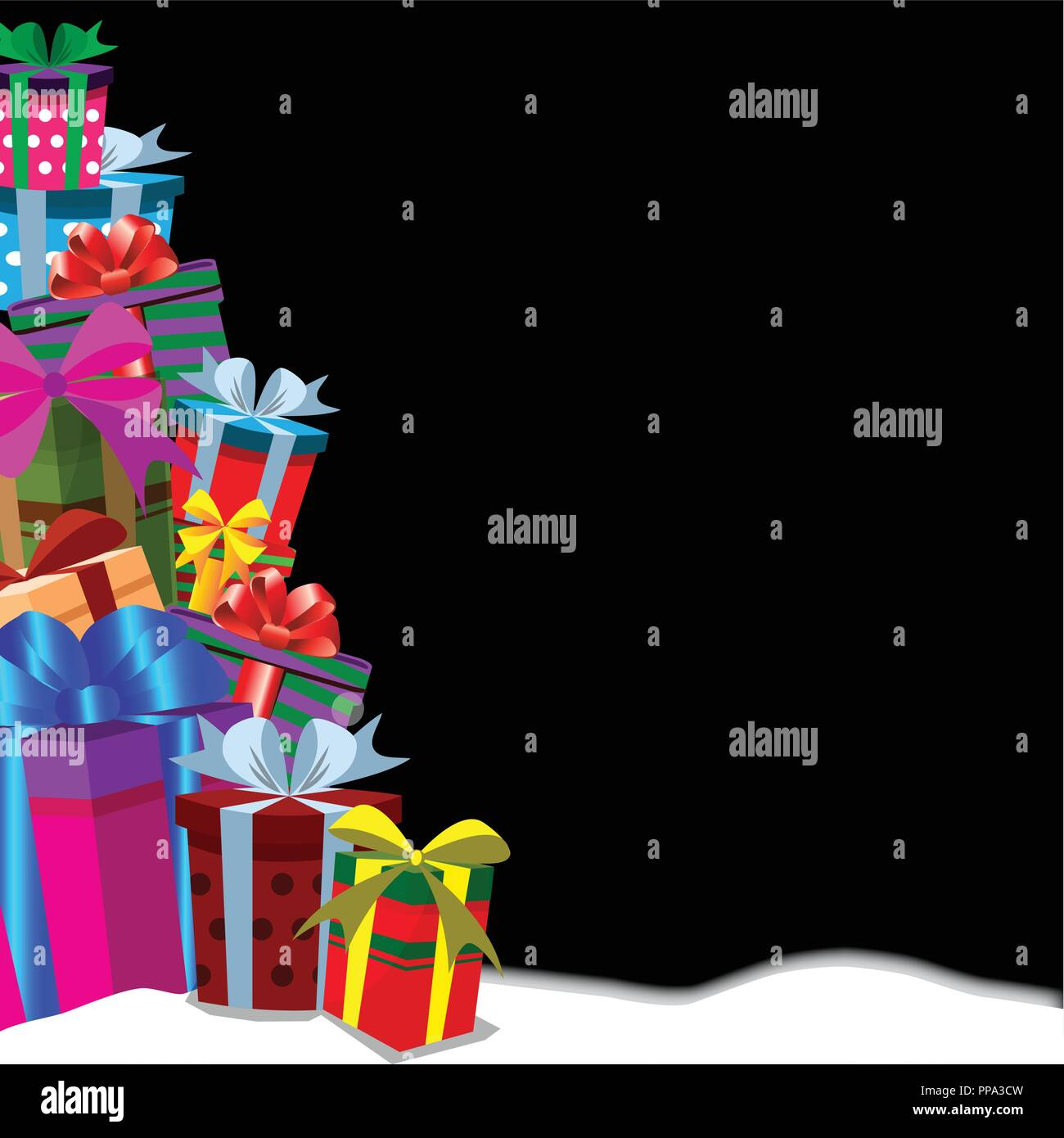 festive holiday background with gifts in traditional holiday style christmas new year valentine birthday anniversary template border of gift boxe
