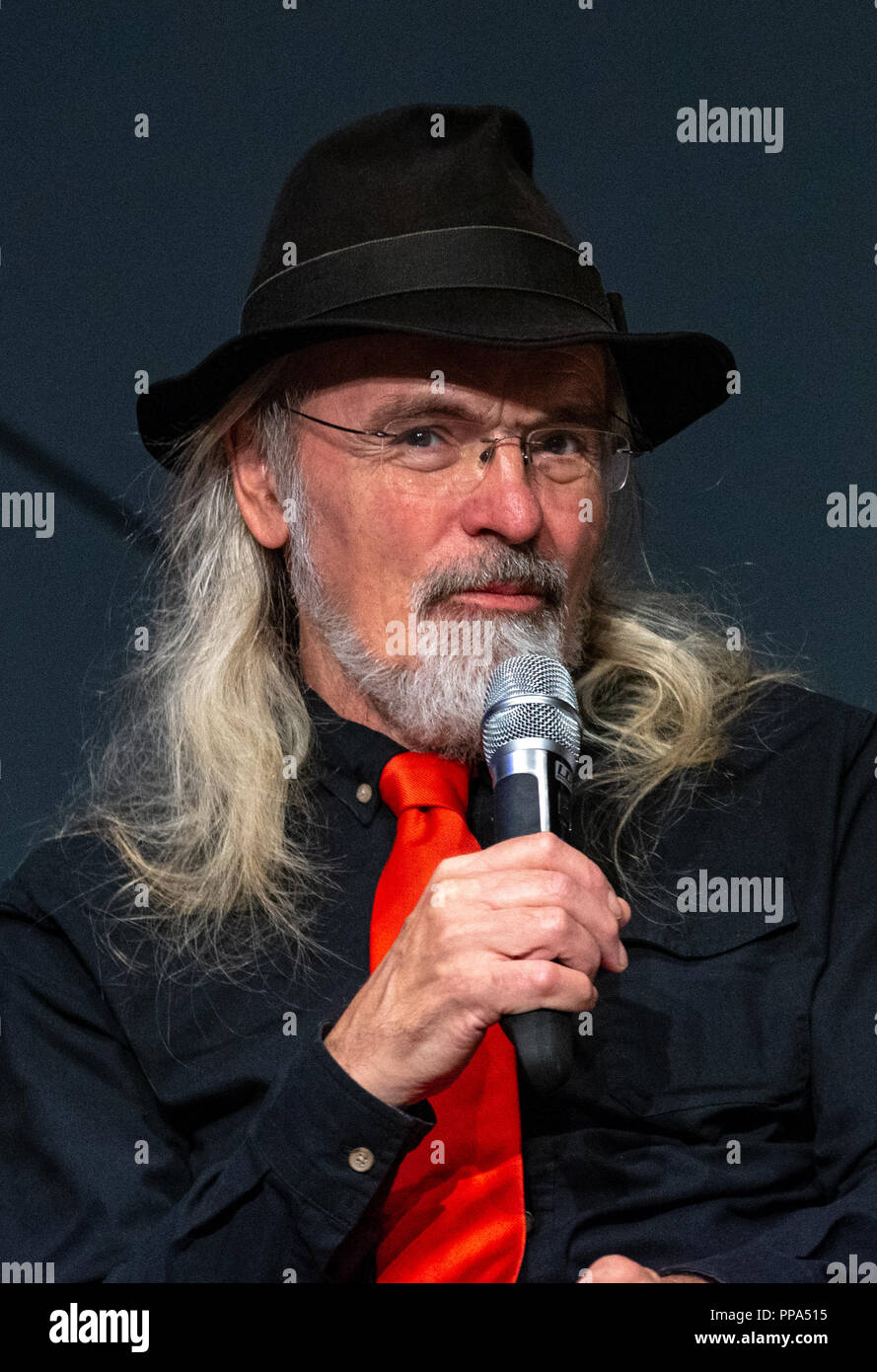FUERTH, Germany - September 22nd 2018: Toby Philpott (*1946, puppeteer - Jabba the Hut) at Noris Force Con 5a three day star wars fan convention for c - Stock Image